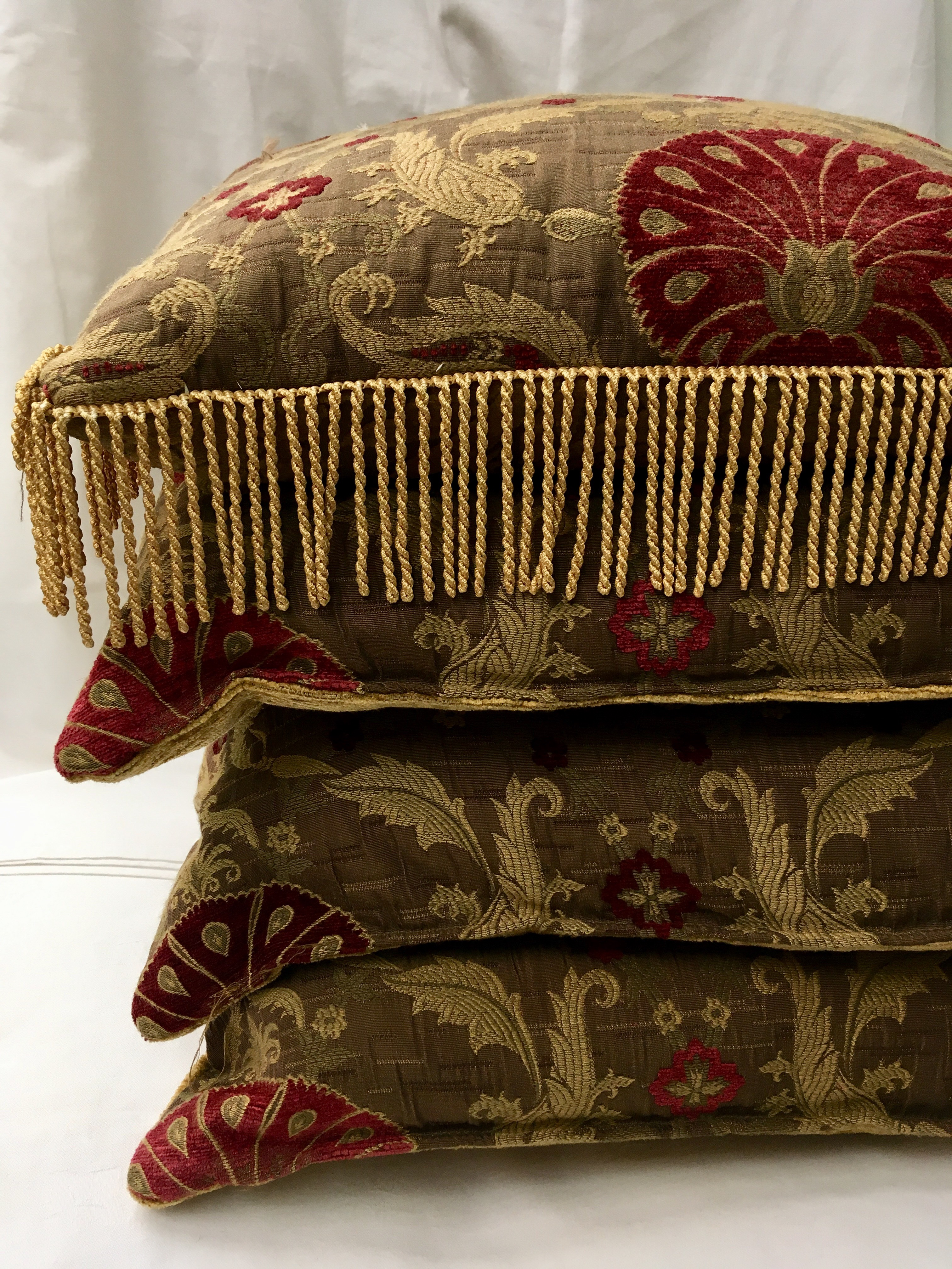Burg/Gold Classical Chenille Brocade