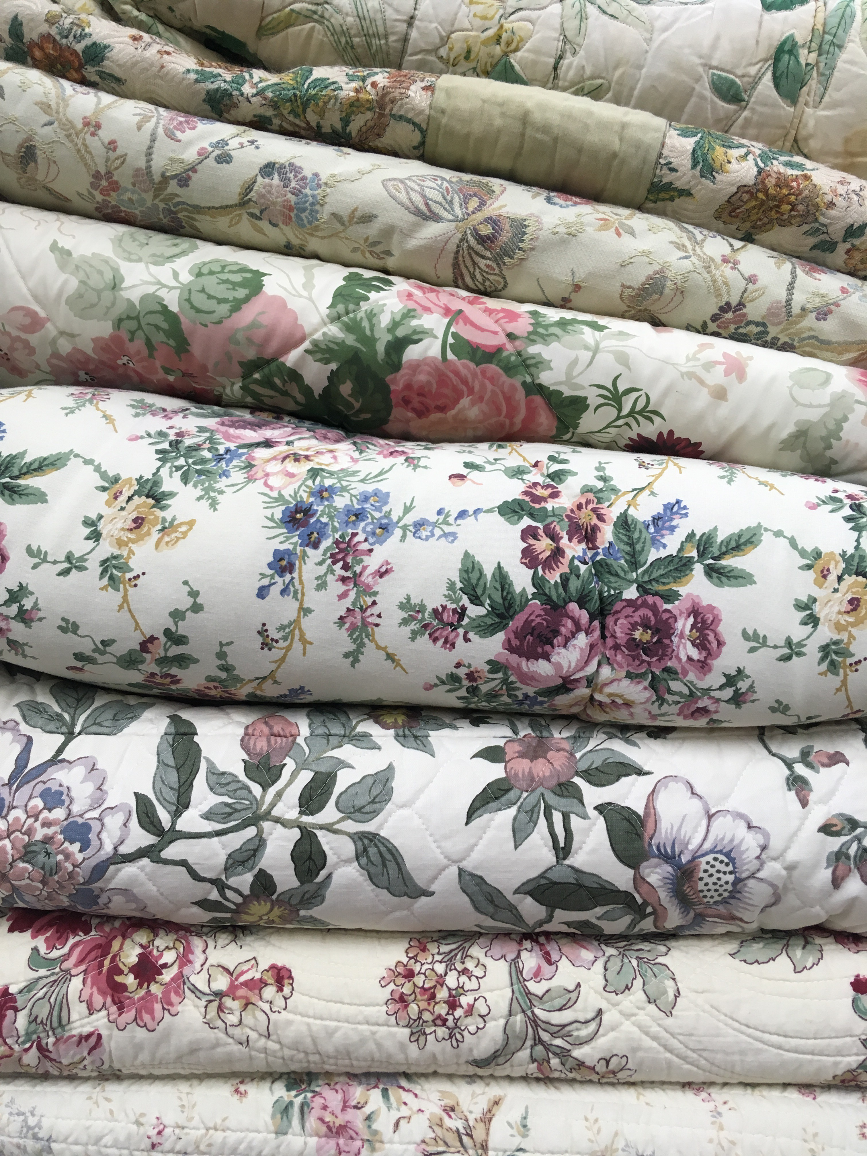 Selection of Floral Quilts
