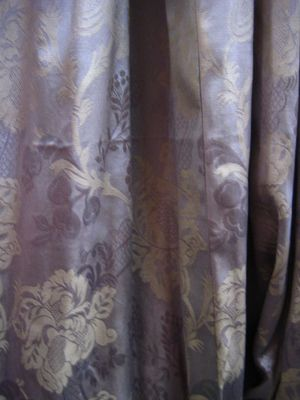 Silver/P Gld Faded Shiny Damask