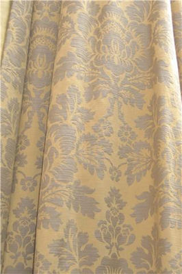 Gold And Brown Damask