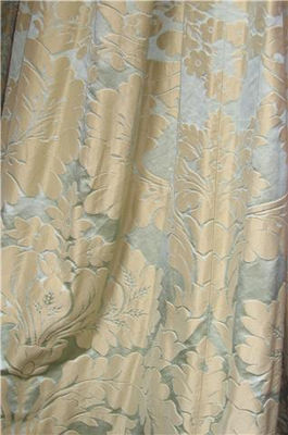 Green And Gold Classical Silk Damask
