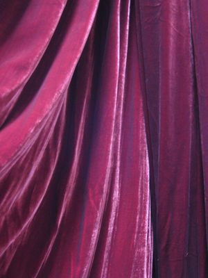 Deep Red Silk Velvet