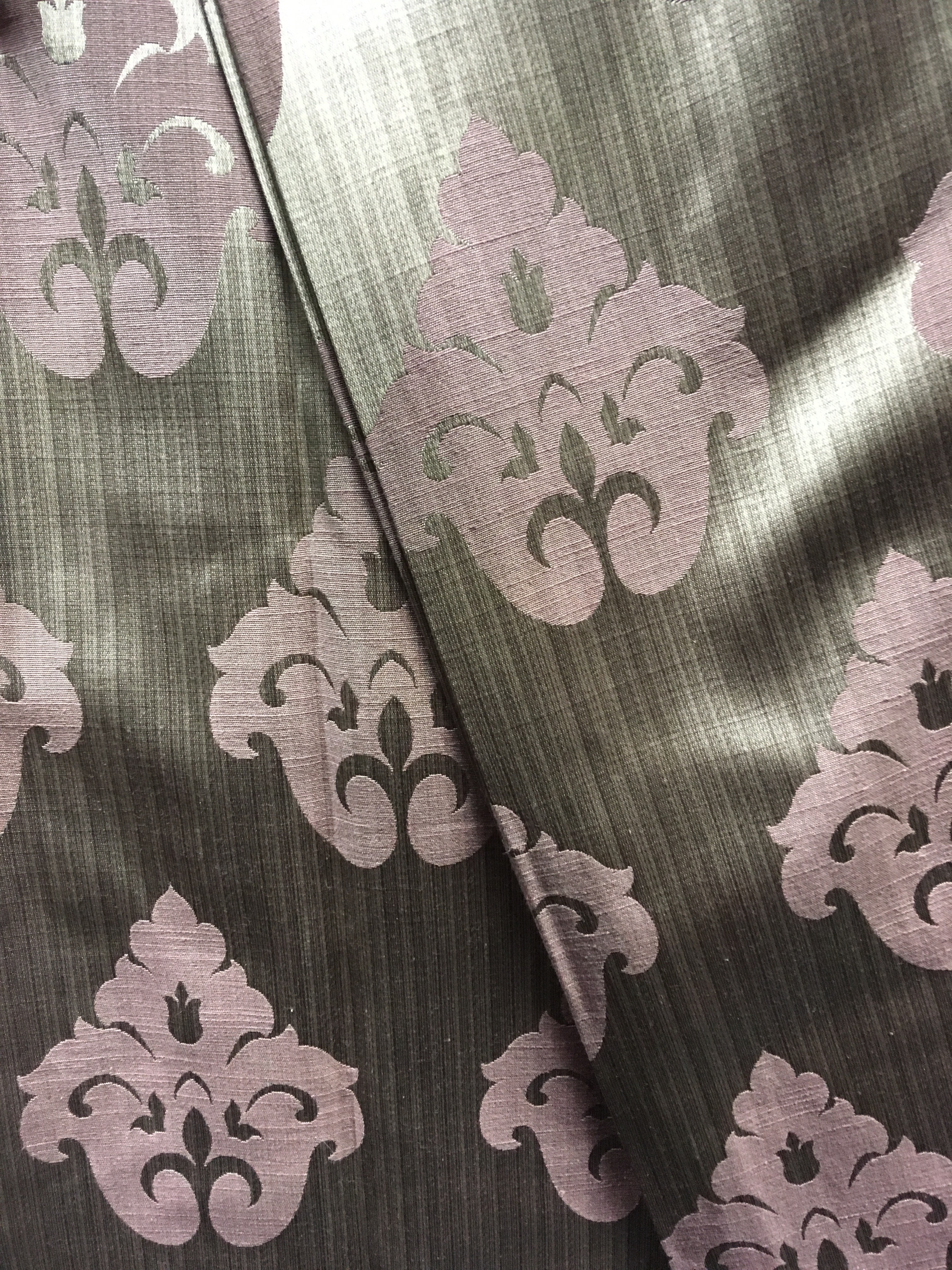 Taupe And Pink Damask