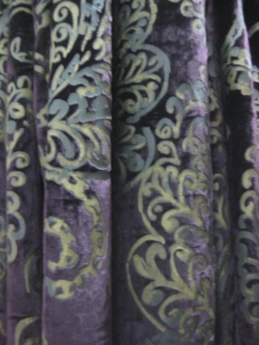 Purple/Gold Damask